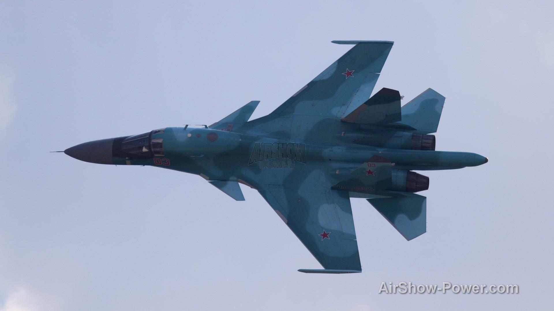 SU 34 Fullback at 100 Years Russian Air Force Display 2014 1 1920x1080