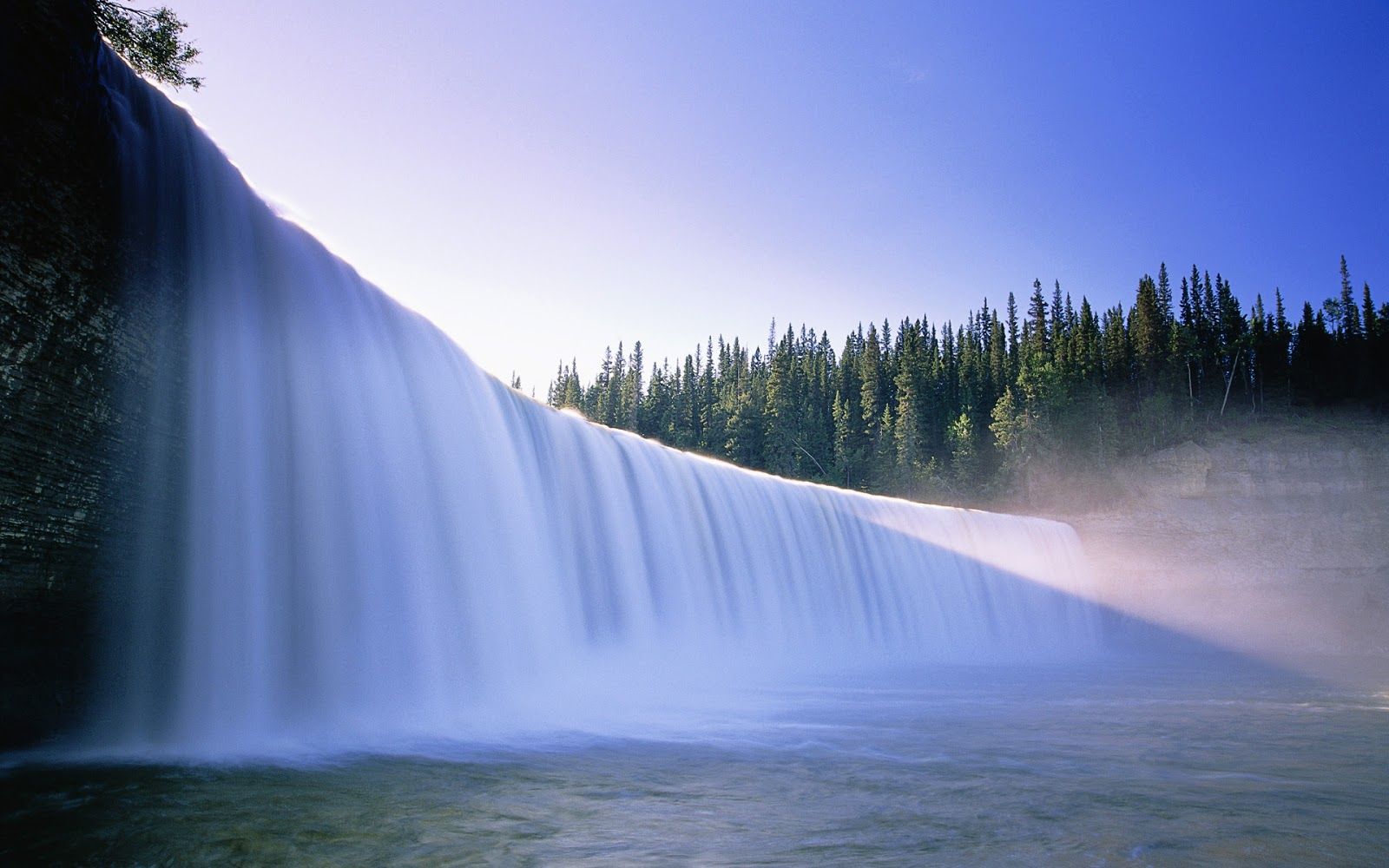 Fantastic dam water flow scenery wallpaper   HydroResearch 1600x1000