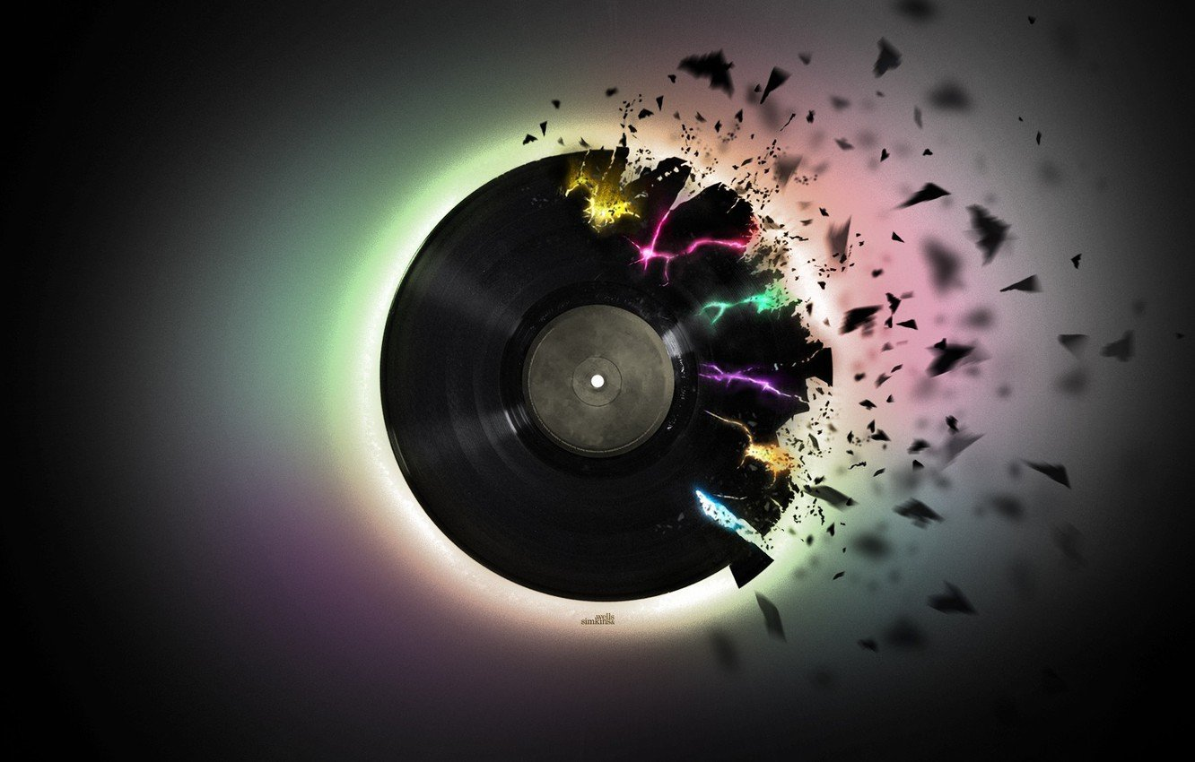Wallpaper music black pieces vinyl record images for desktop 1332x850