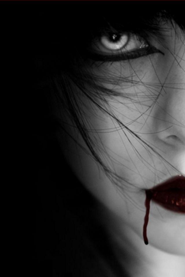 black vampire girl 100x150 Amazon Kindle Fire Stock Wallpapers 640x960