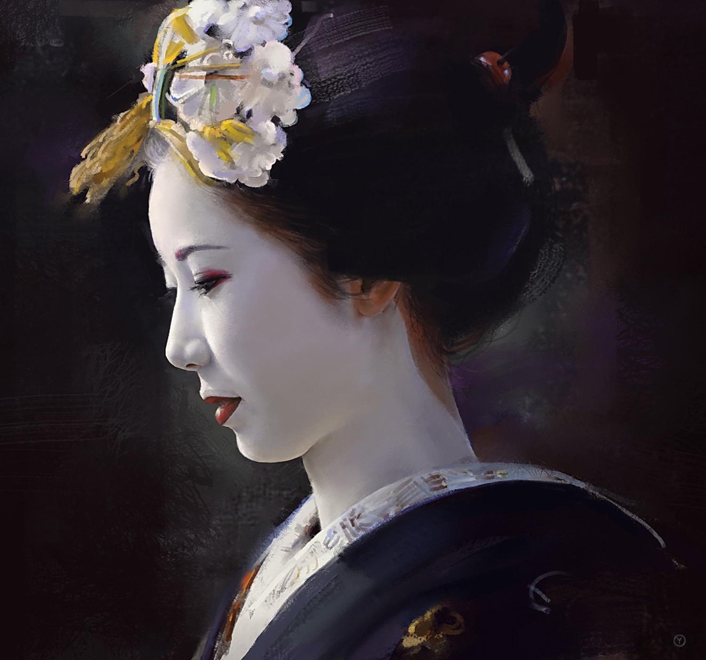 geisha wallpaper geisha illustration wallpaper geisha illustration 1500x1401