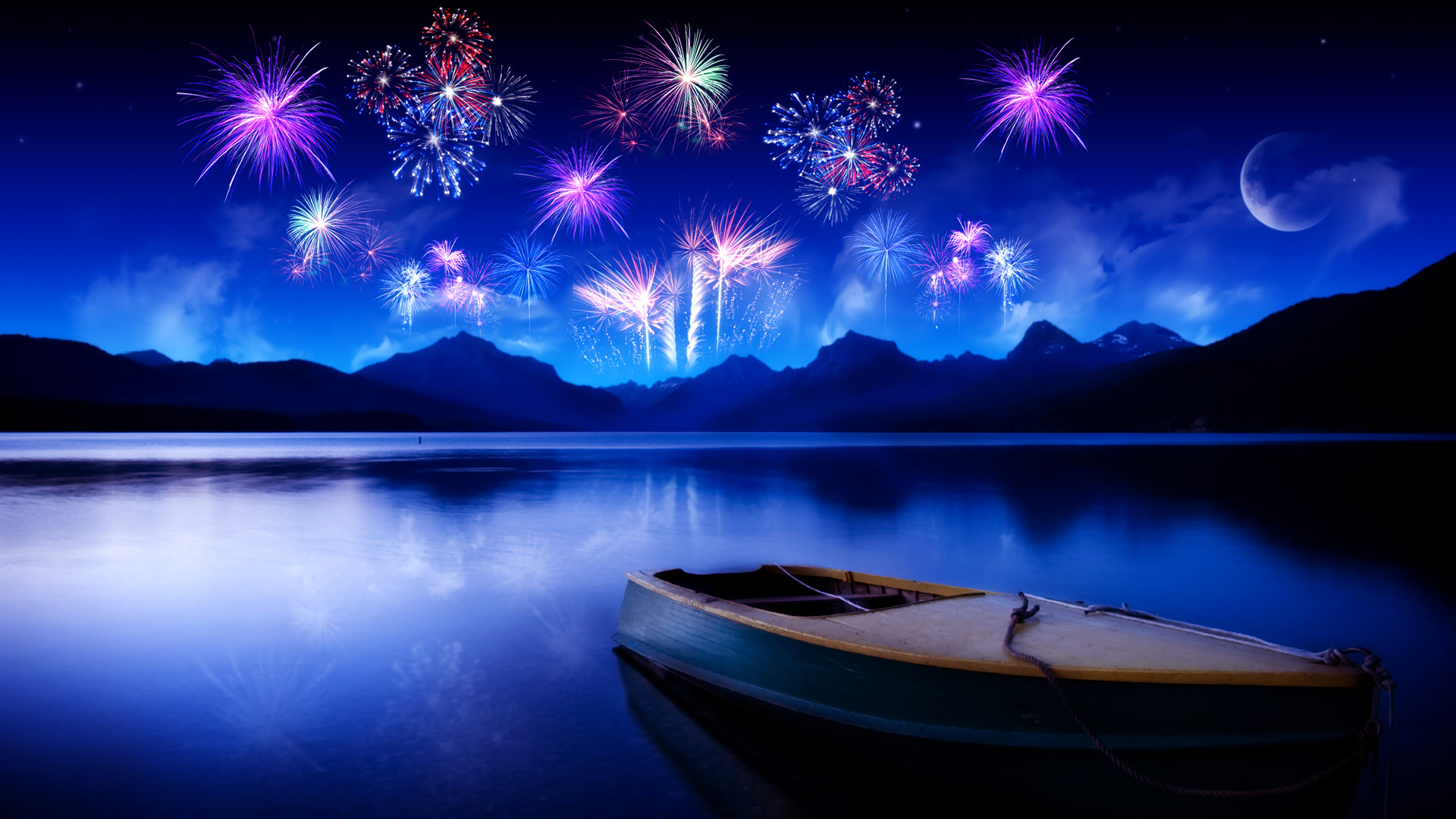 New Years Fireworks wallpaper Full HD 1080p 1920x1080