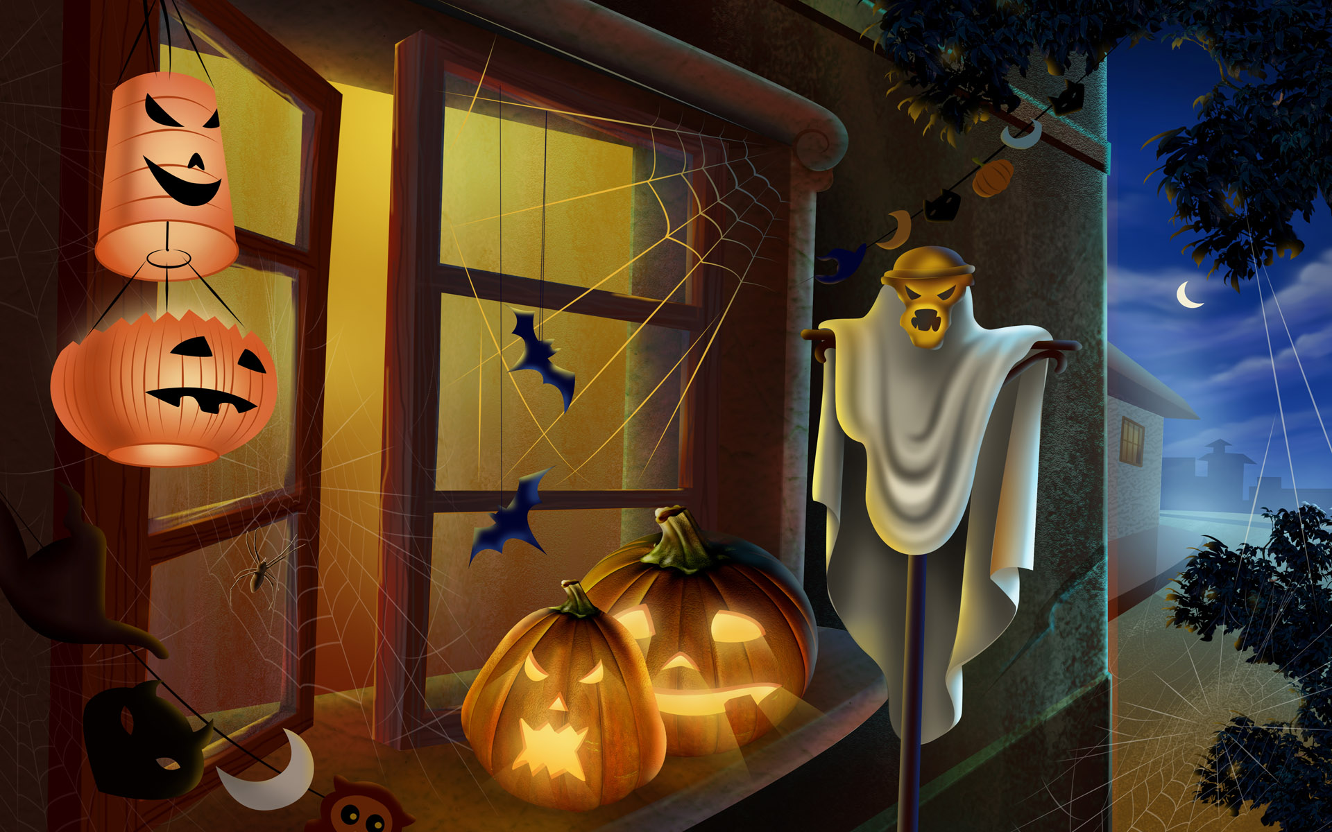 animated halloween wallpaper windows 7 With Resolutions 19201200 1920x1200