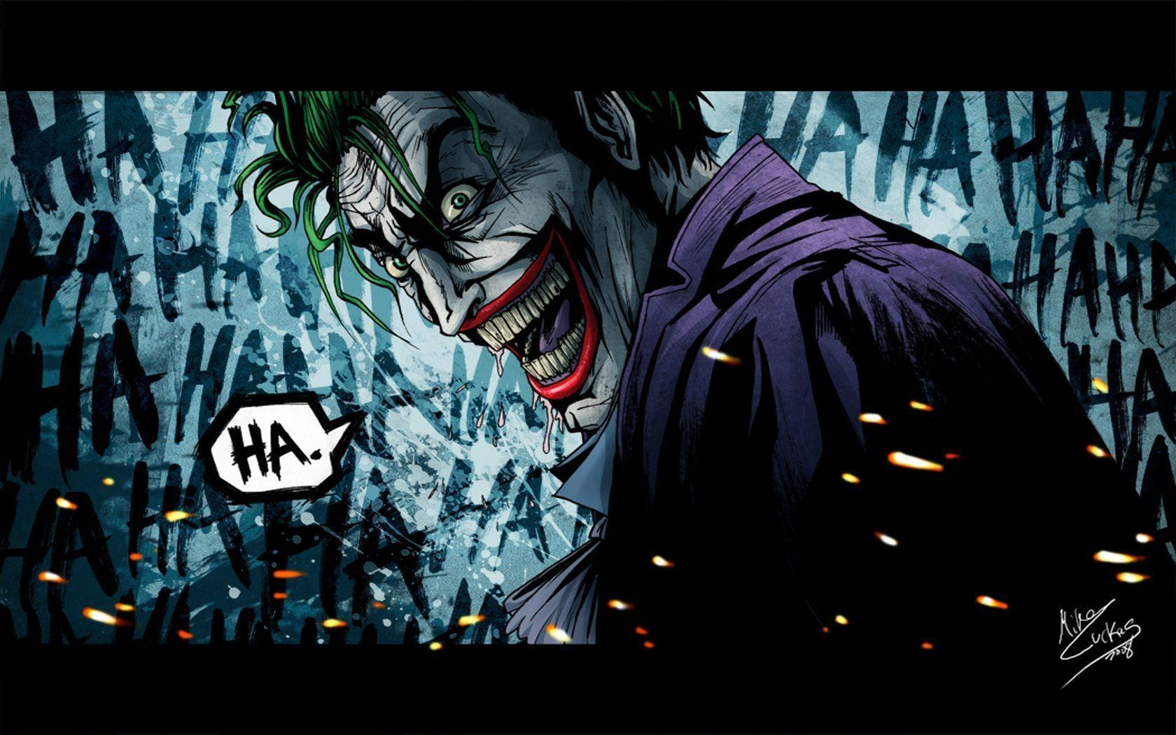 Joker Comic Wallpapers 1680x1050