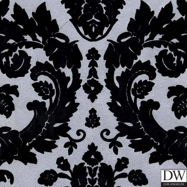 wallcoverings wallpapers walls flock velvet wallpaper black flock on 600x600