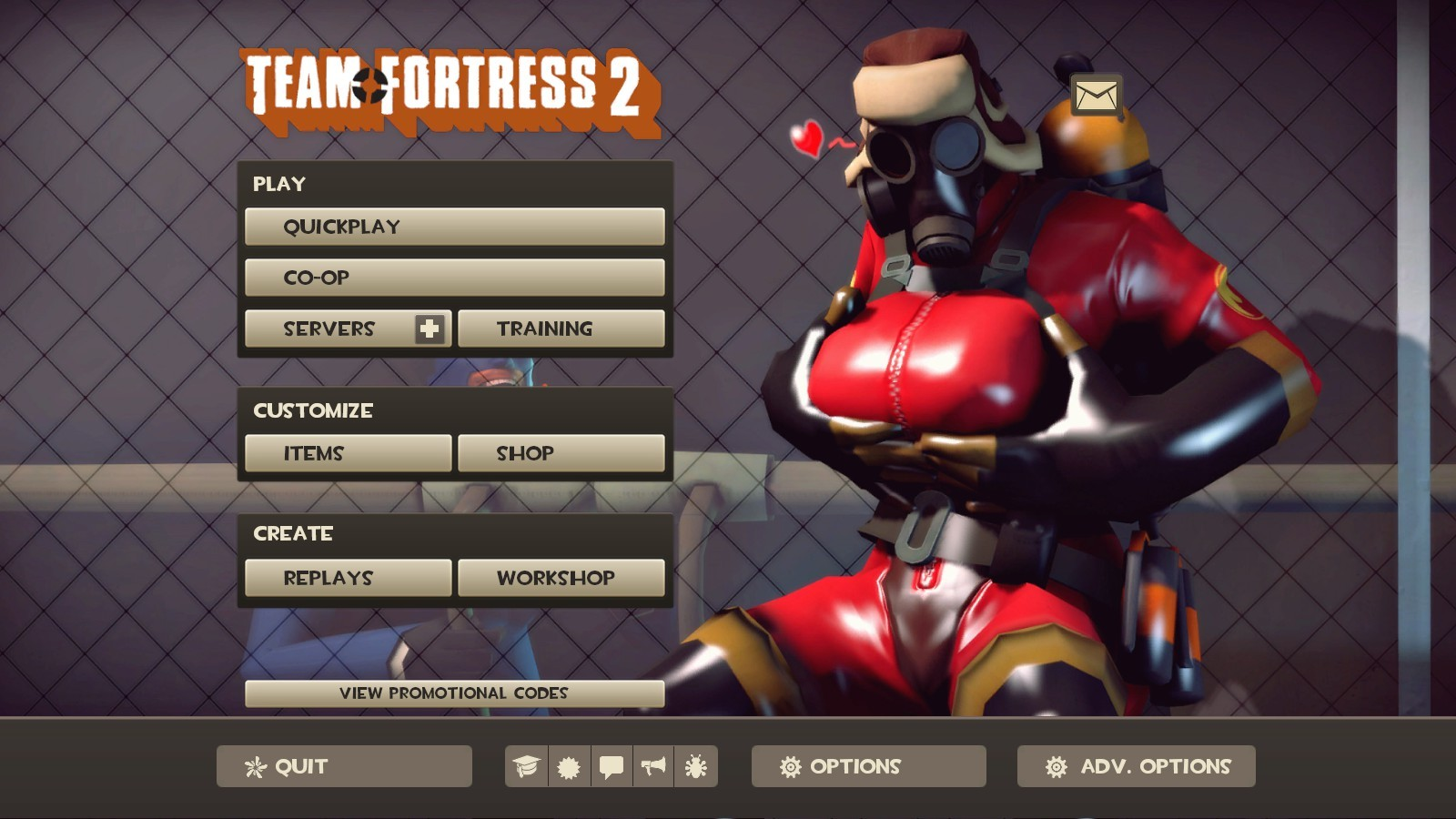 Pyro Backgrounds SFM Team Fortress 2 GUIs Menu 1600x900