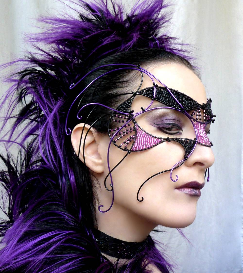 purple   Cybergoth Beauty Picture 1000x1123