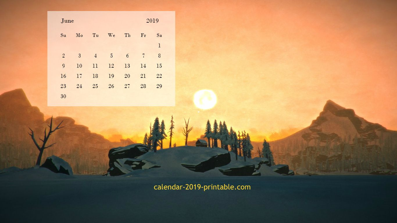 june 2019 desktop background wallpaper Calendar 2019 Wallpapers 1366x768