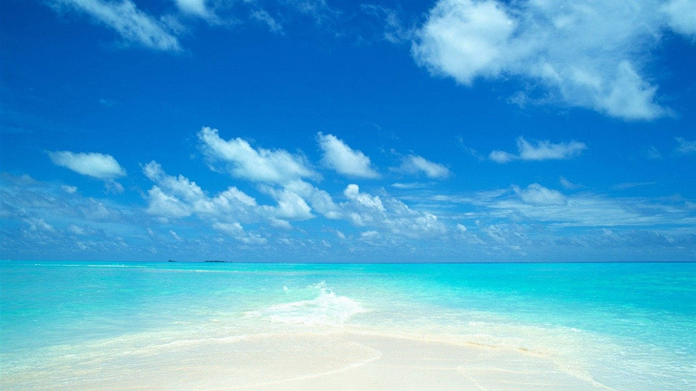 Fresh Beach Background Sky 1366768 1366x768