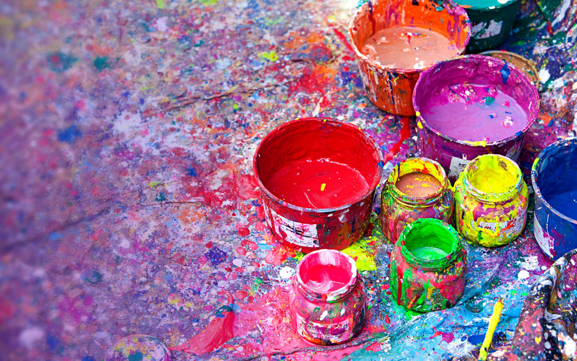 Paintings for Holi Festival Wallpaper for Widescreen 1920x1200