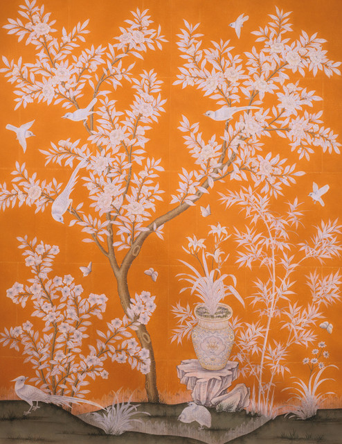 Gracie Hand Painted Panel   Asian   Wallpaper   by Beth Connolly 494x640