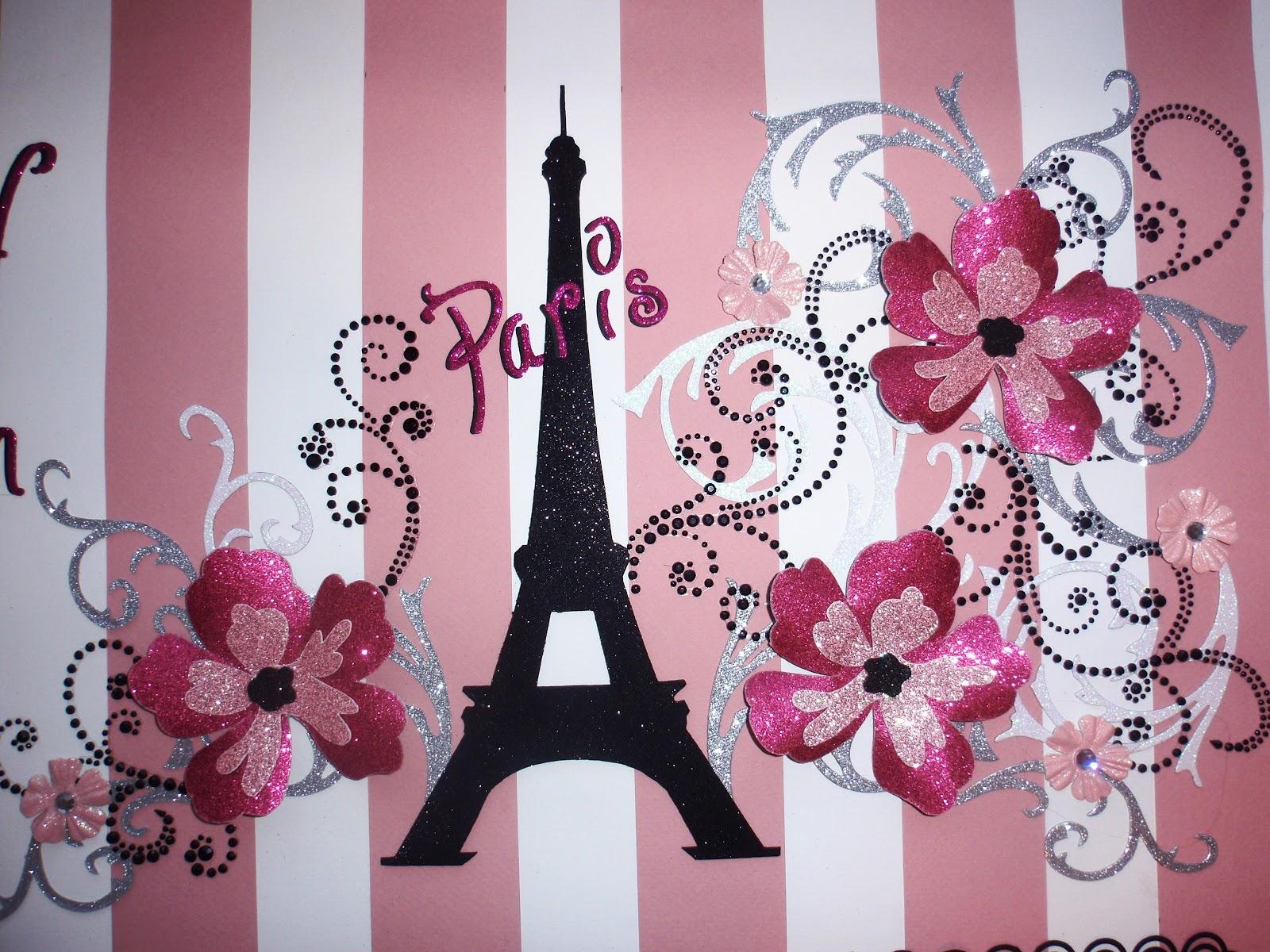 Paris In Pink Wallpaper