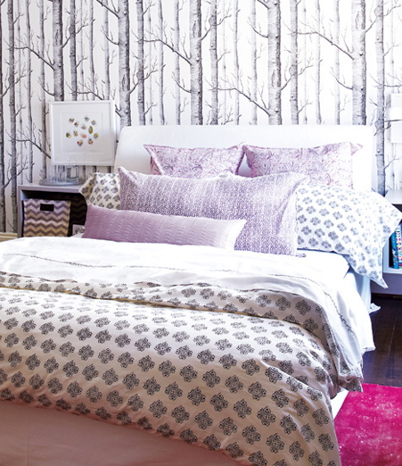 Photo courtesy of Style at Home Wallpaper Woods from Cole and Son 451x522