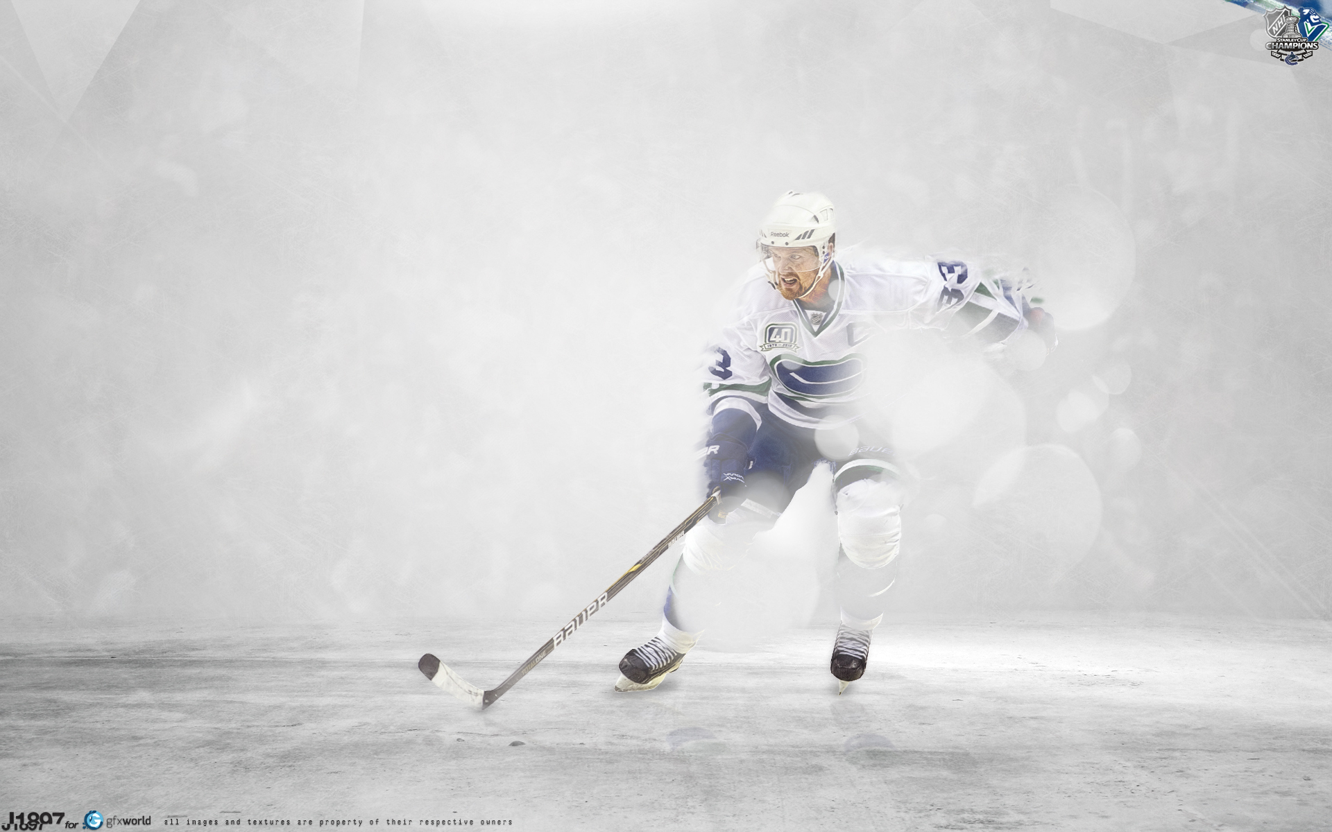 Hockey player Henrik Sedin on ice wallpapers and images   wallpapers 1920x1200