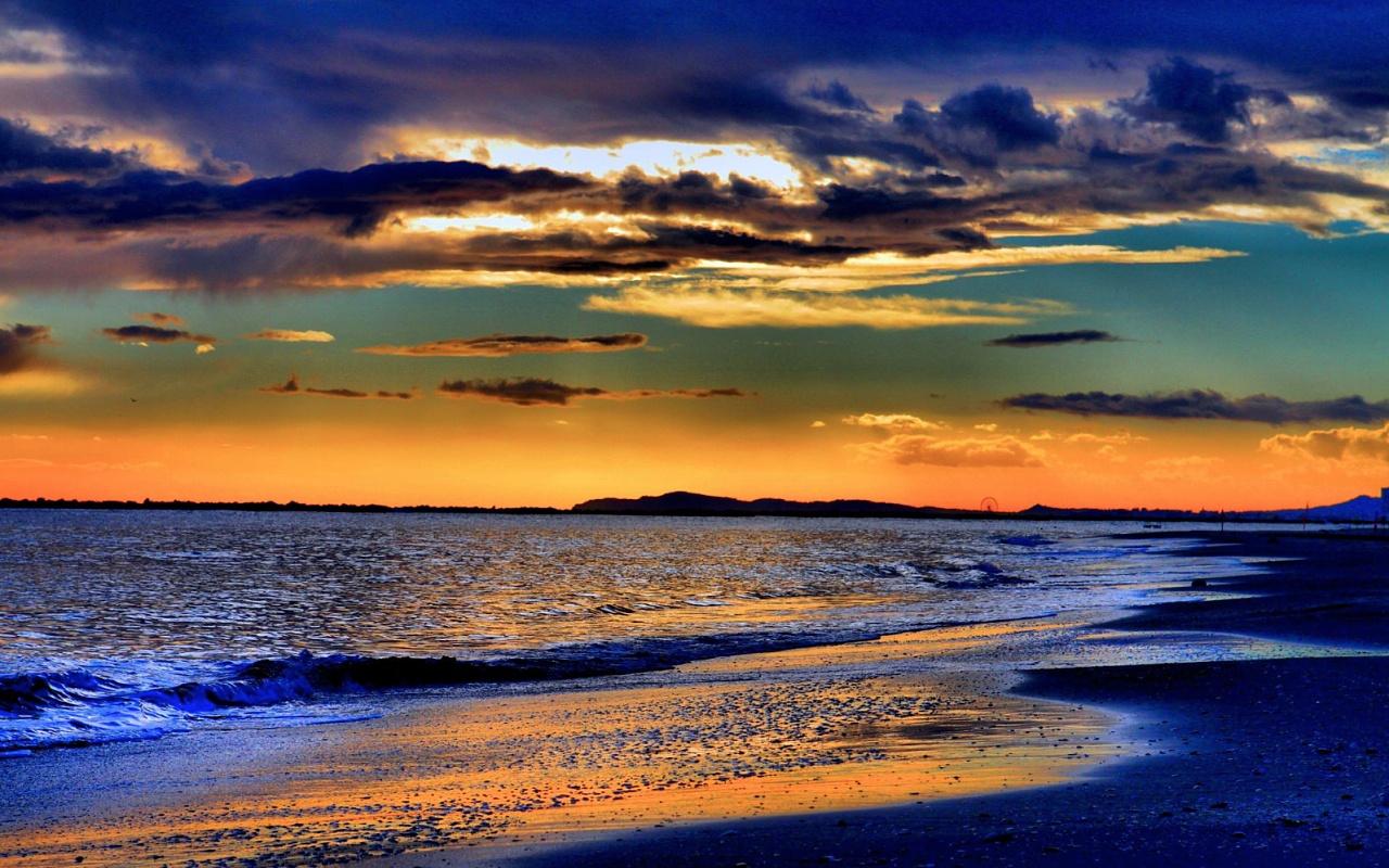 Pictures Images and Photos Windows Wallpaper Beach Sunset 1280x800