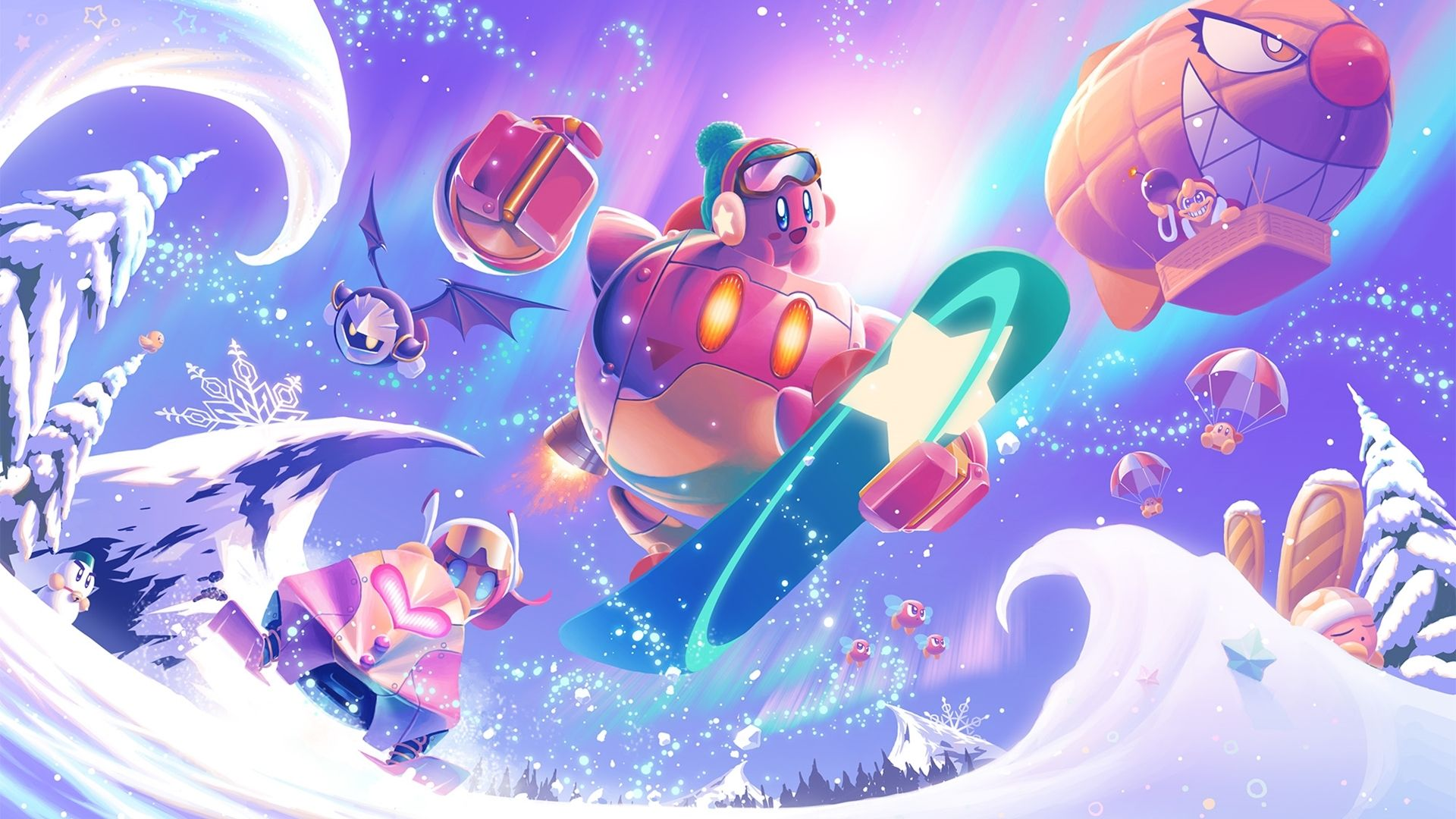 Kirby Video Game Kirby Planet Robobot Wallpaper Kirby art 1920x1080