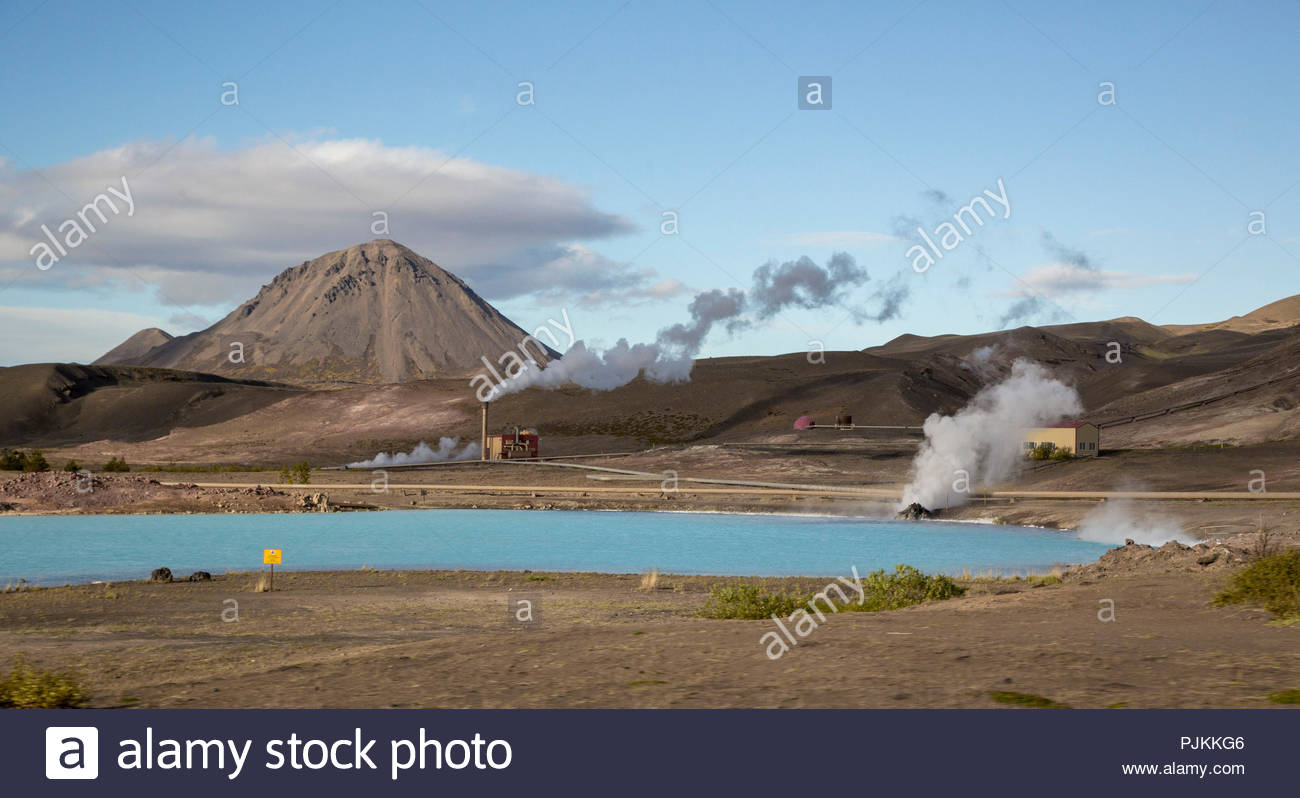 Iceland Geothermal Power Station Myvatn area steaming chimneys 1300x798