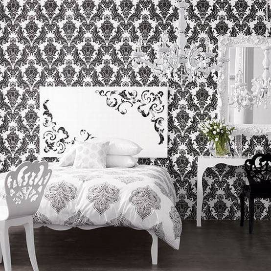 Fresh Decor Black And White Wallpaper Decor For Stylish Room 554x554