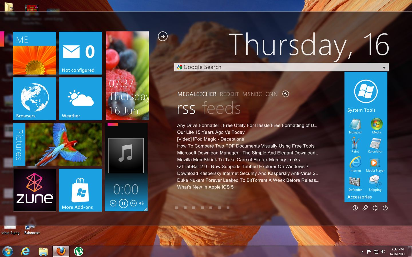 Google themes for windows 8
