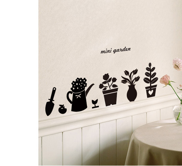 Solid color cartoon decorative removable wall stickers for background 603x552
