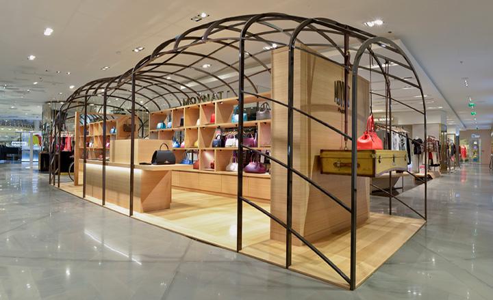 at Parisian department store Galeries Lafayette The pop up shop 720x439