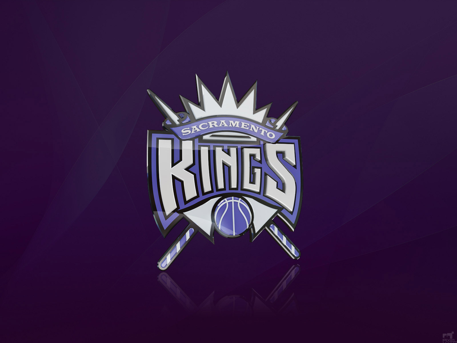 Sacramento Kings Logo 3D Wallpaper Basketball Wallpapers at 1600x1200