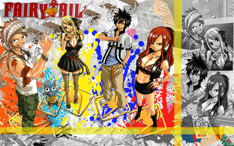 fairy tail  team natsu wallpaper by neutral0702 d52swwujpg 900x563