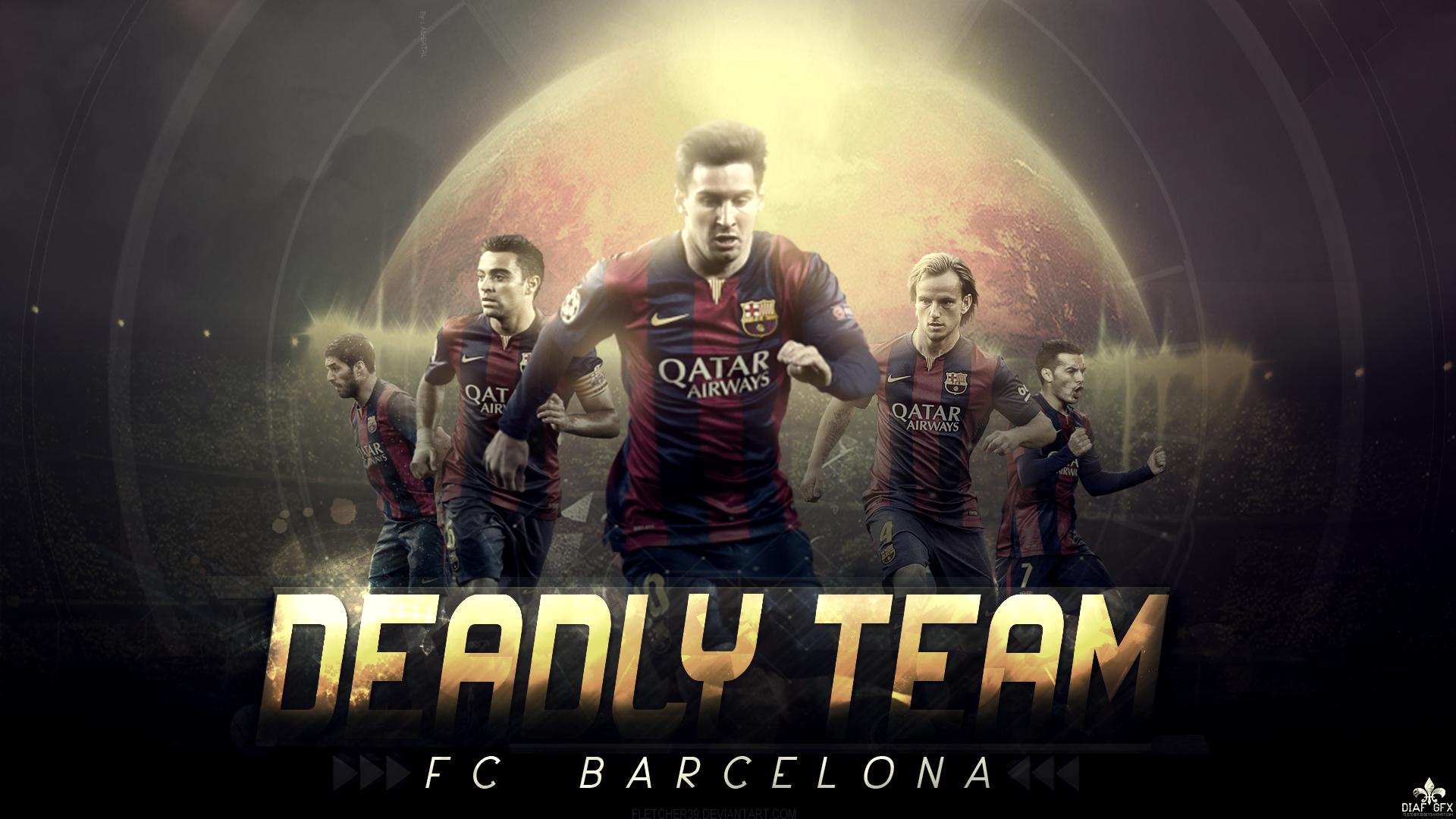 Fc Barcelona Wallpaper The Deadly Team by FLETCHER39 1920x1080