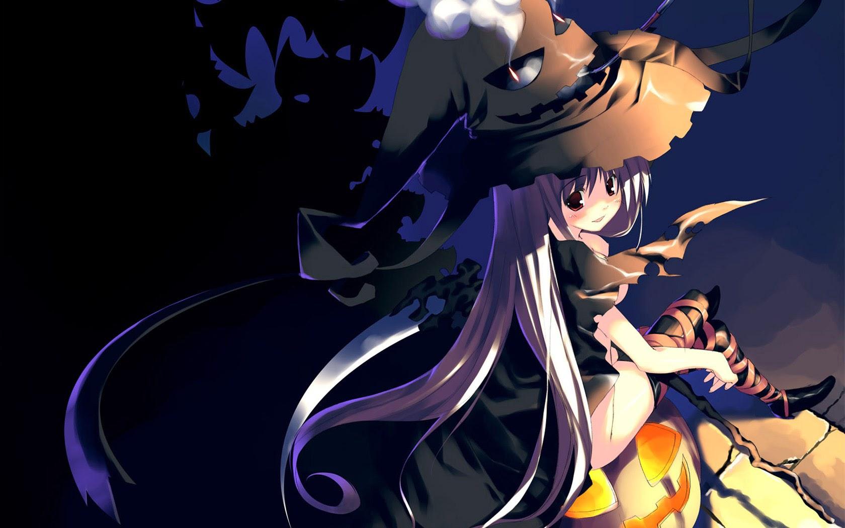 sexy girl witch halloween anime wallpaper 16801050 widescreen a153 1680x1050