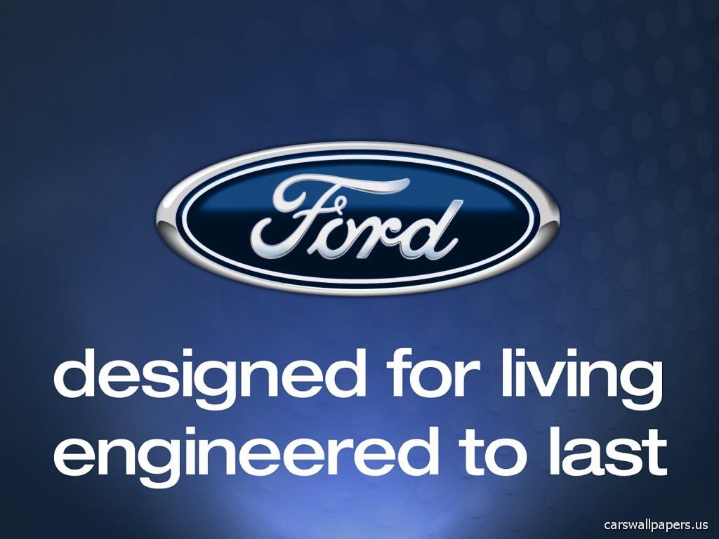 ford logo and slogan desktop free wallpaper 1024x768