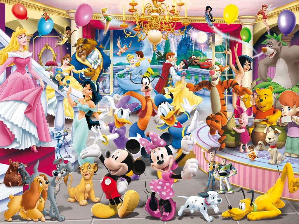 Disney Celebrations with all Disney Members in Disney World 1024x768