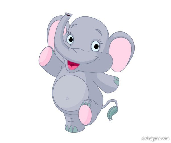 Free Download Animated Baby Elephant Pictures Cartoon Baby Elephant