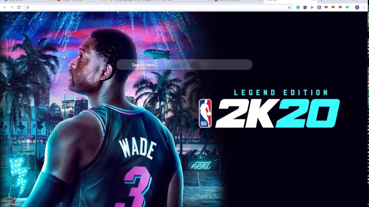 Best NBA 2K20 HD Wallpaper New Tab Chrome Theme For Fans 1280x720