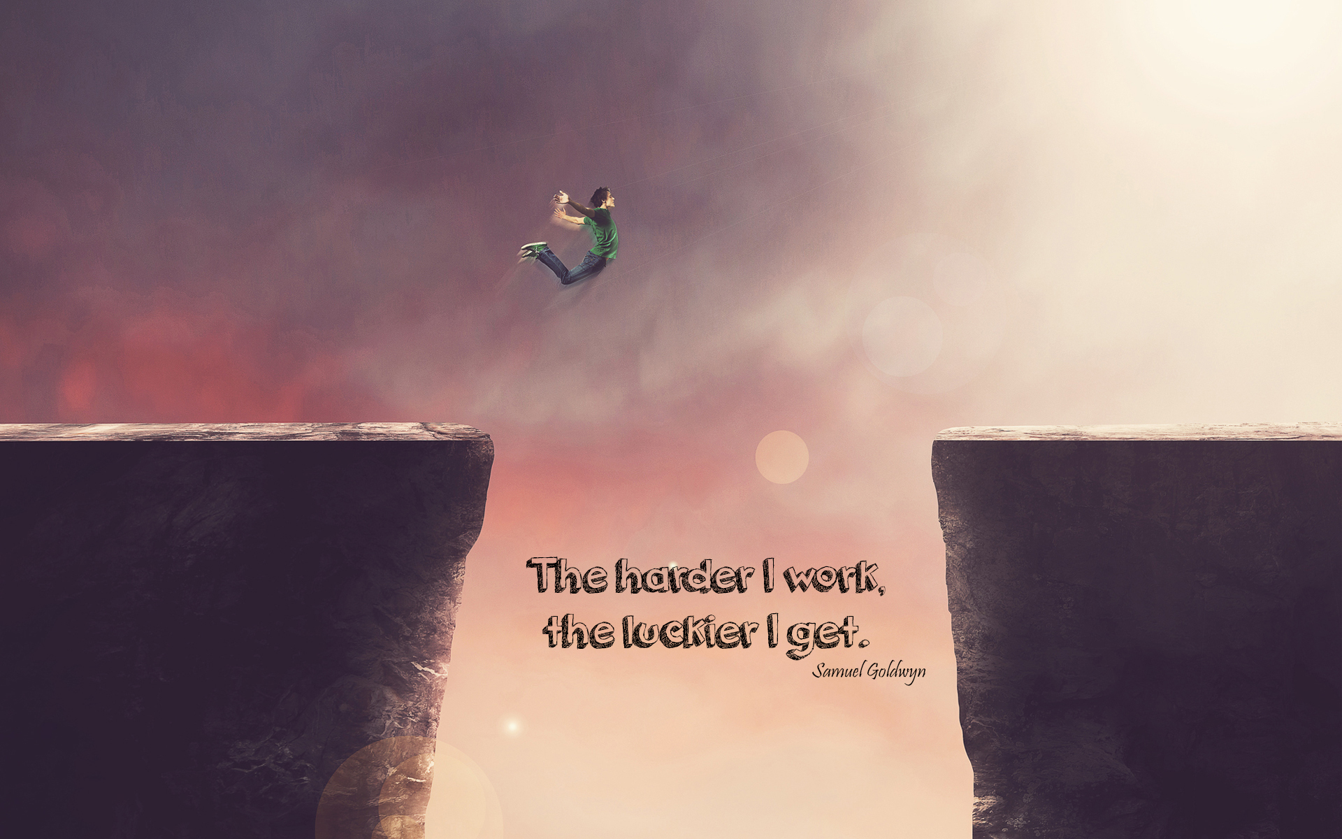 The harder I work The luckier I get Wallpaper Wallpapers 1920x1200