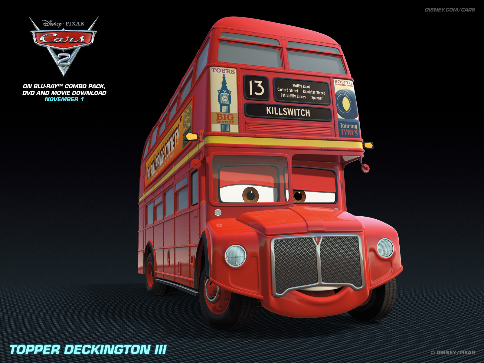 fanpopcomTopper Deckington   Disney Pixar Cars 2 Wallpaper 28400548 1600x1200