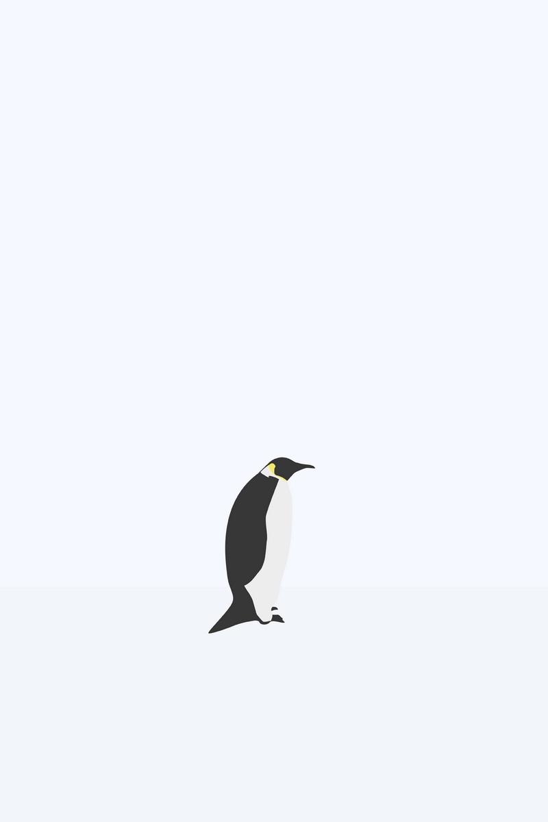 Download wallpaper 800x1200 penguin minimalism snow iphone 4s4 800x1200