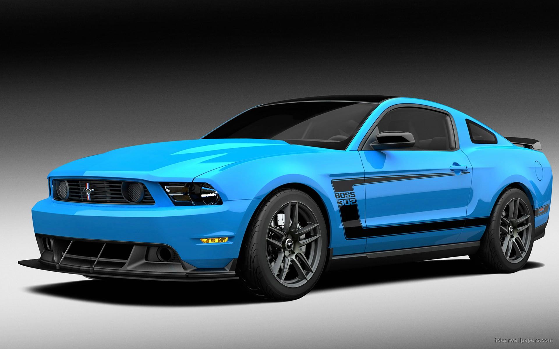 Blue 2012 Ford Mustang Boss Wallpaper HD Car Wallpapers 1920x1200
