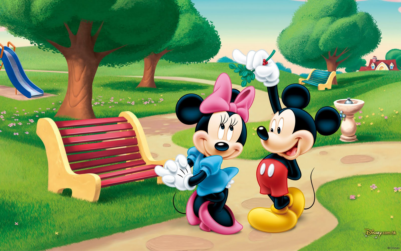 BANCO DE IMGENES Wallpapers de Disney II Mickey Mouse y Daisy 1600x1000