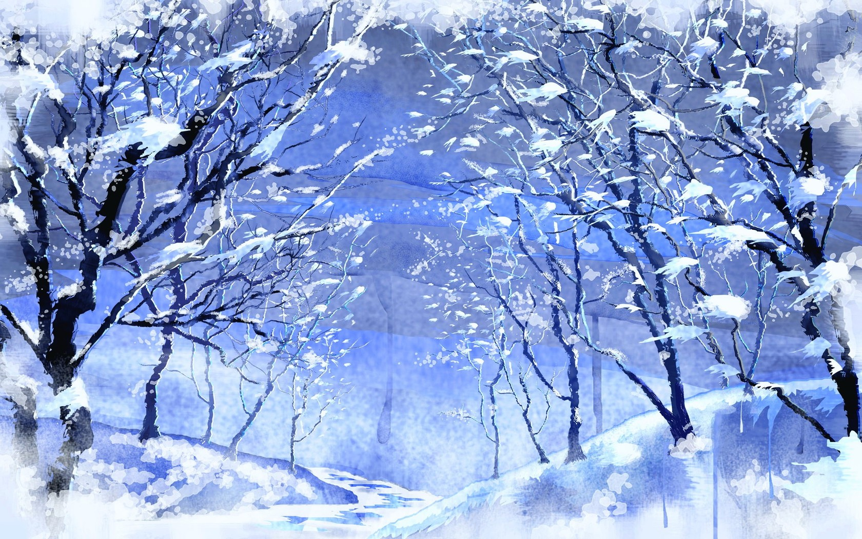 snow forest afari snowy forest 4687
