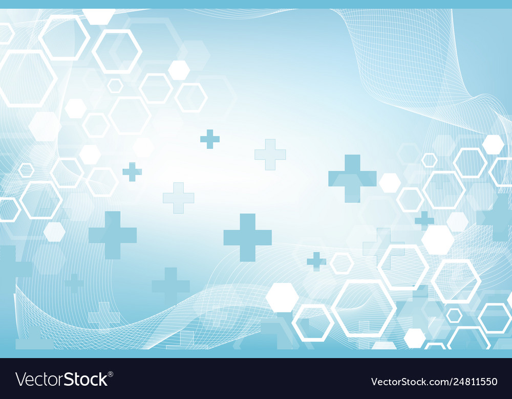 Abstract medical background dna research molecule Vector Image 1000x780