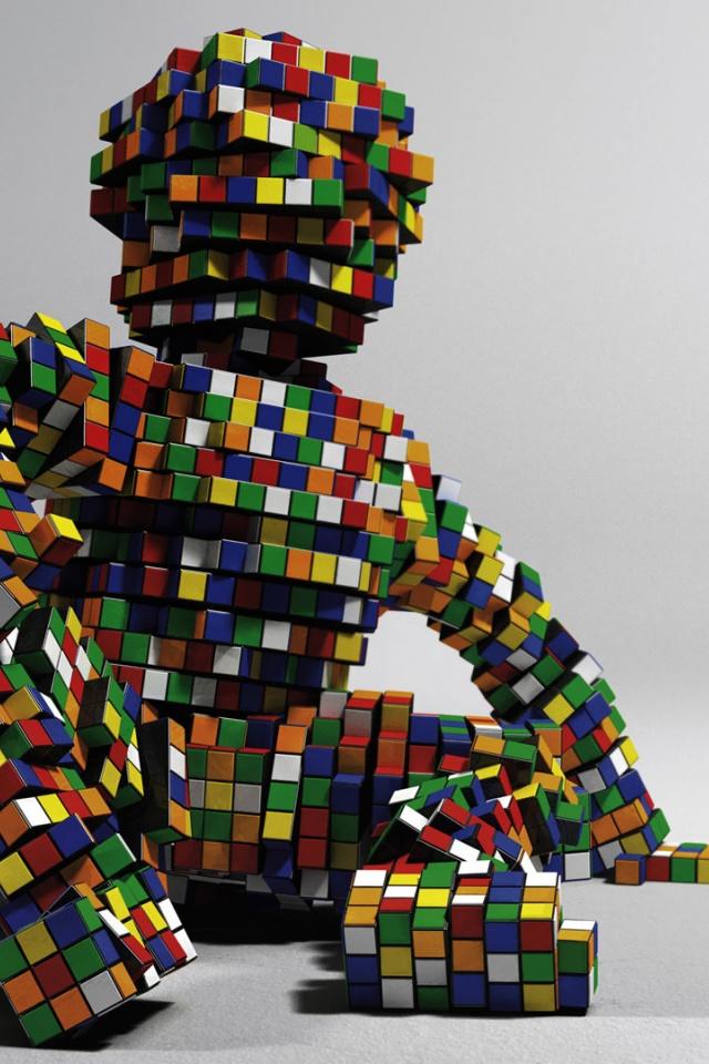 Rubiks Cube Wallpaper 640x960 rubiks cube figure 640x960