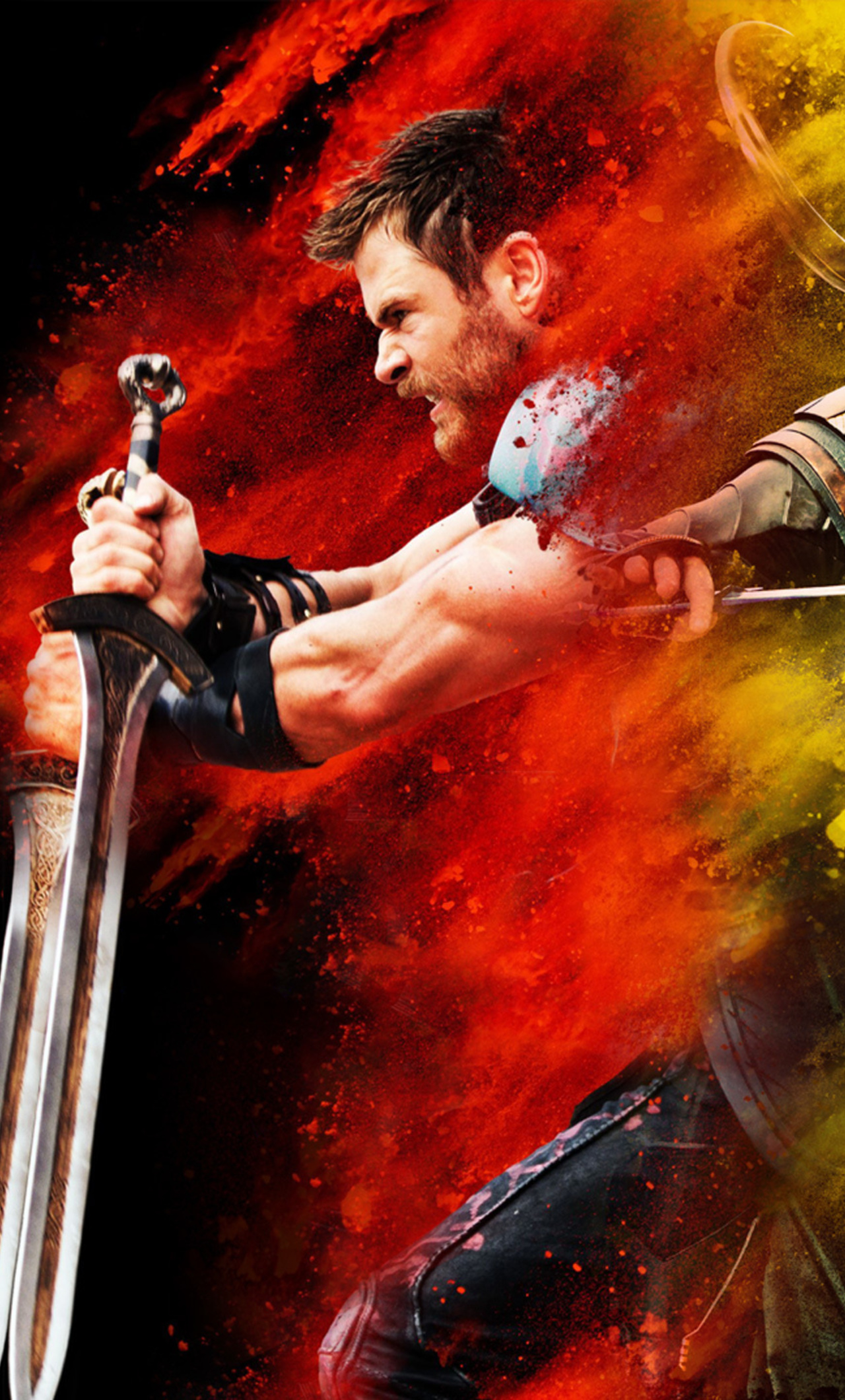 Free Download 1280x2120 Thor Loki Hulk Thor Ragnarok Iphone