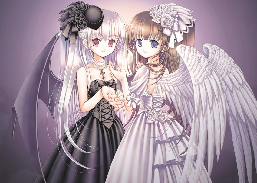 devil vs angel wallpaper   ForWallpapercom 849x606