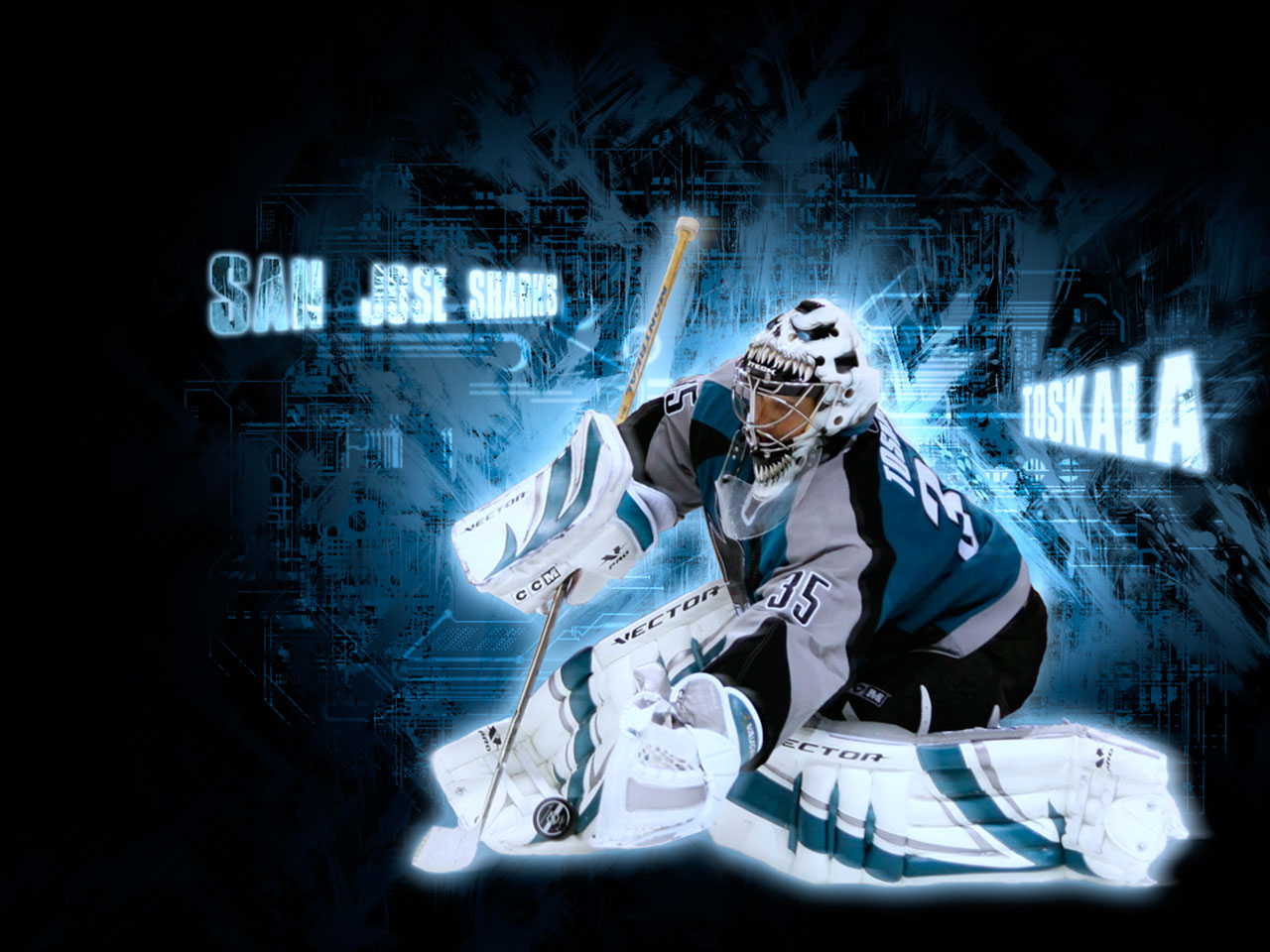NHL Wallpapers   Vesa Toskala San Jose Sharks wallpaper 1280x960
