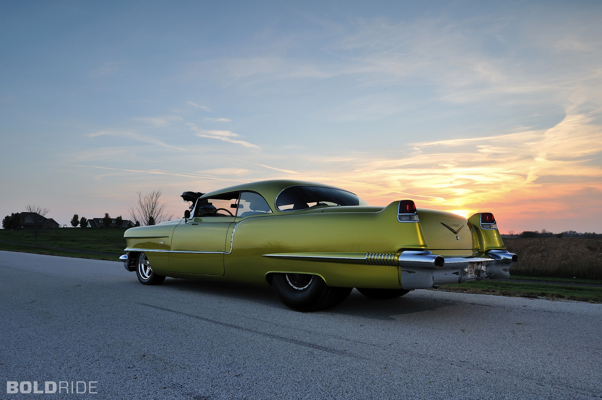 Cadillac Coupe deVille hot rod rods drag race racing retro f wallpaper 2000x1328