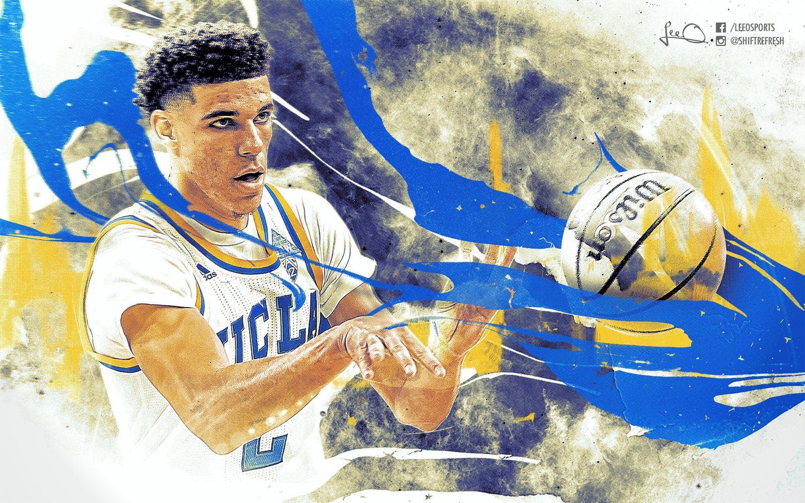 Lonzo Ball UCLA Wallpaper by skythlee 1600x1000