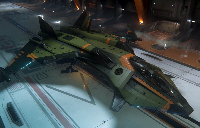Wallpaper background starship Star Citizen Gladius images for 1332x850