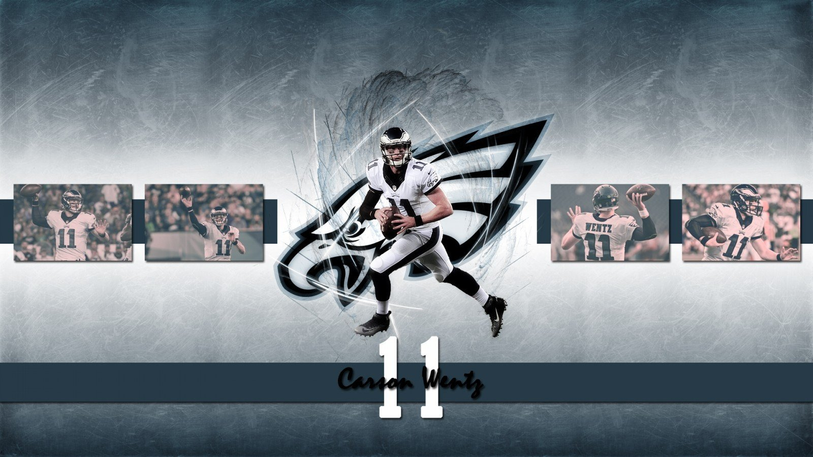 Download 1600x900 Carson Wentz American Football Wallpapers 1600x900