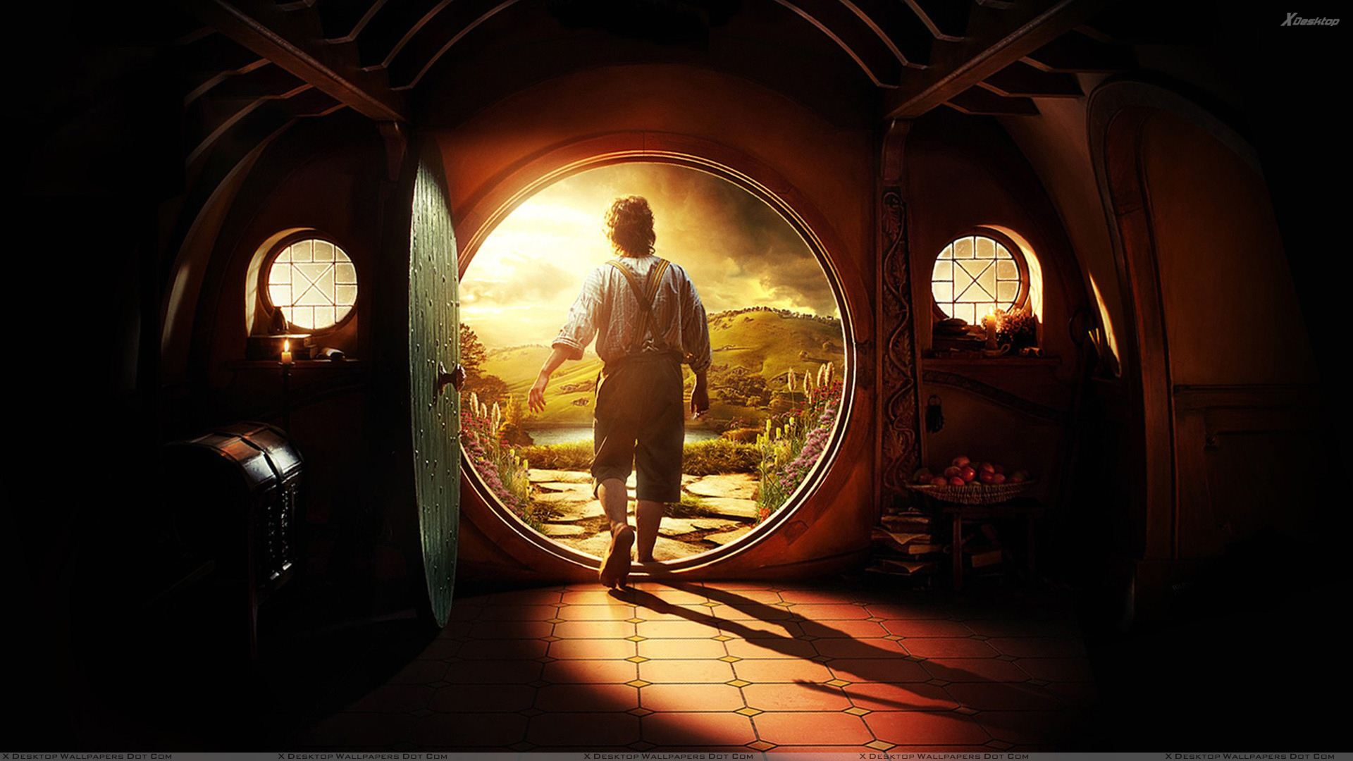 The Hobbit An Unexpected Journey Martin Freeman Going Outside 1920x1080