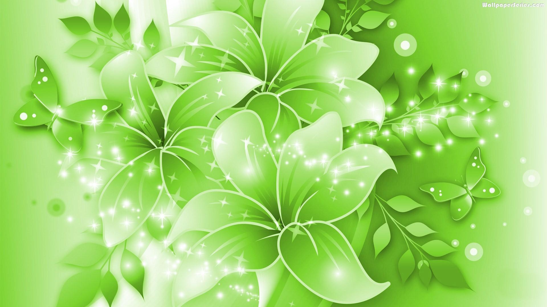 Green Flower Background Wallpapersafari